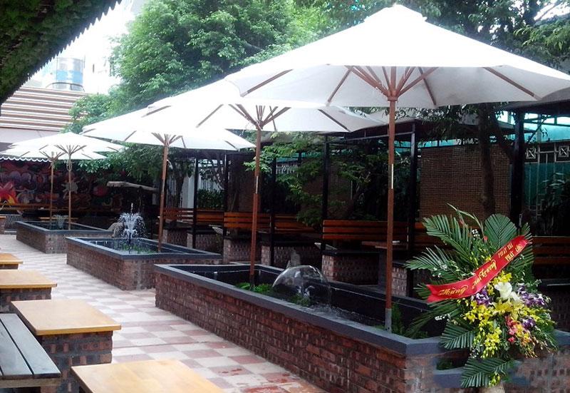 Mẫu dù che nắng mưa quán cafe đẹp nhất sang trọng giá rẻ Biên Hòa Đồng Nai