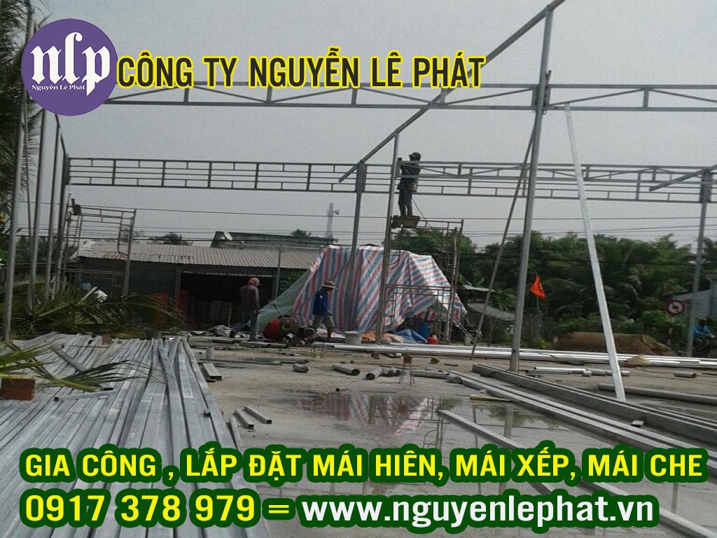 Thi Công Lắp Đặt Mái Che Nắng Quán Cafe Quận 9 Lê Văn Việt