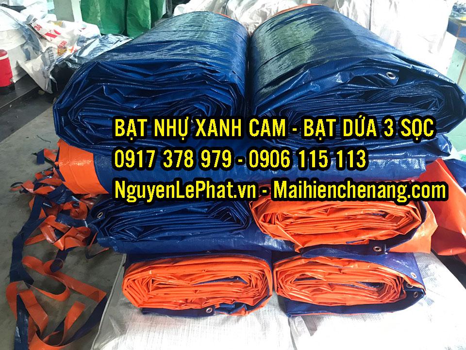 Bạt Xanh Cam 3 Sọc Màu Giá RẺ Khổ 6M Bán Tại Tây Ninh