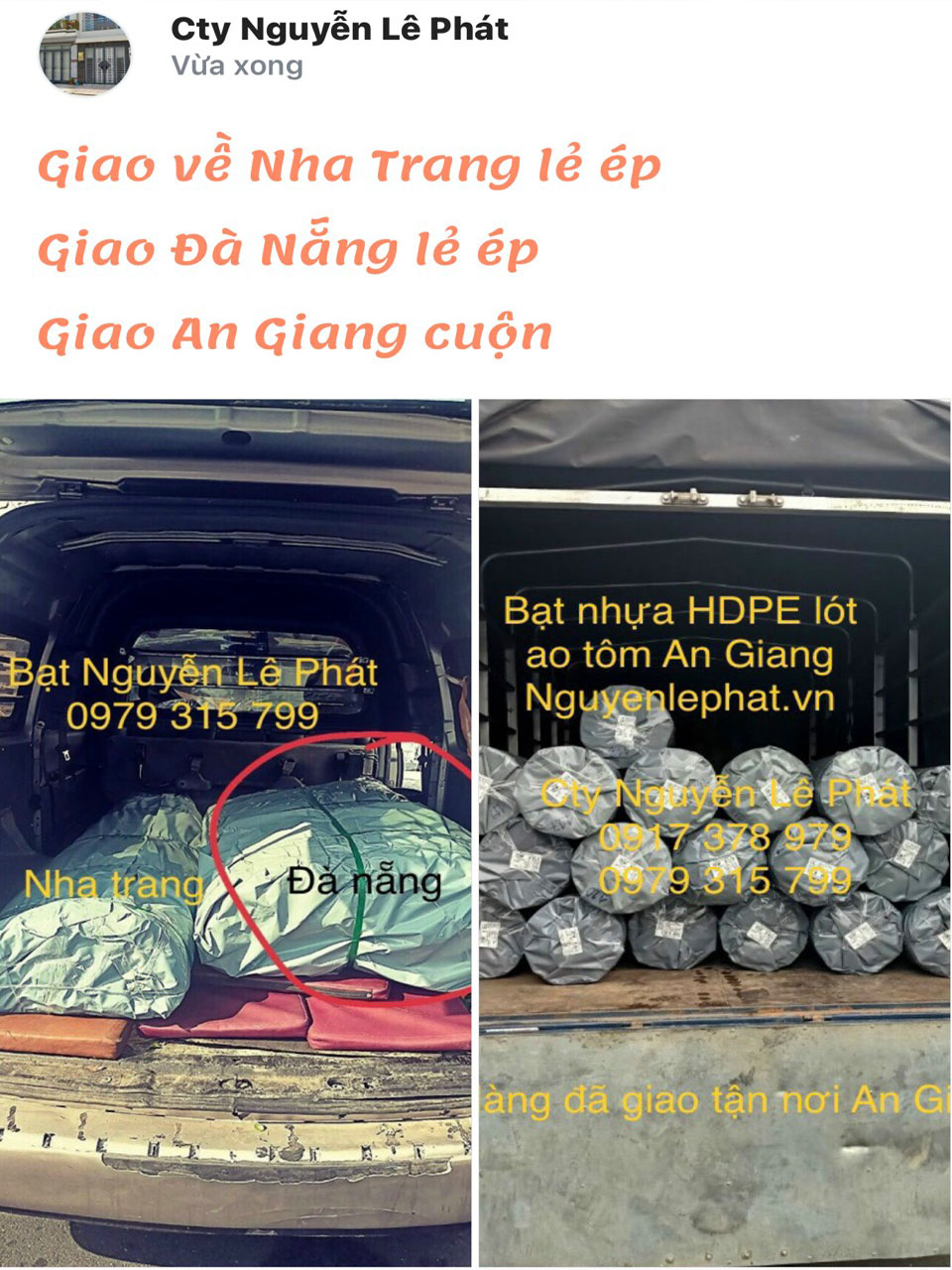 Bạt lót ao hồ chứa nước tại Đồng Nai giá rẻ