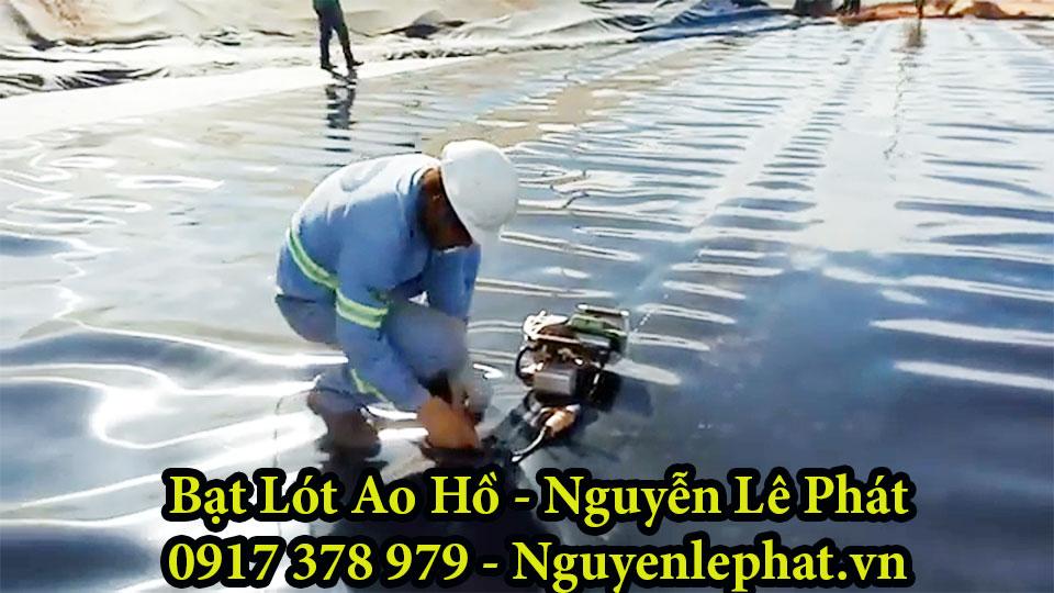 Thi công lót Bạt lót hồ chứa nước tại Phú yên