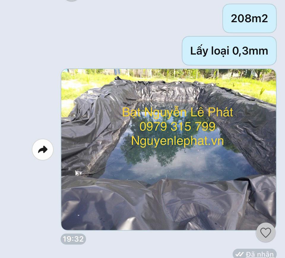 Bạt lót ao hồ chứa nước tại Dầu Tiêng