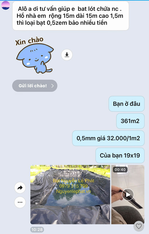 Bạt Lót Hồ Chứa Nước Tại Định Quán Xuân Lộc Đồng Nai