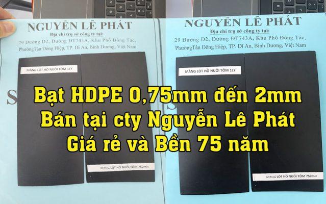 Báo Giá Bán Lẻ Màng Bạt Nhựa Đen HDPE Dày 0,75mm 1mm 2mm