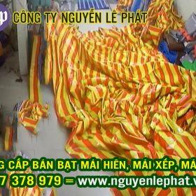 Gia Công May ép bạt mái xếp bạt kéo tại Bến Cát, Bạt Che Nắng Mưa Tự Cuốn Bến Cát